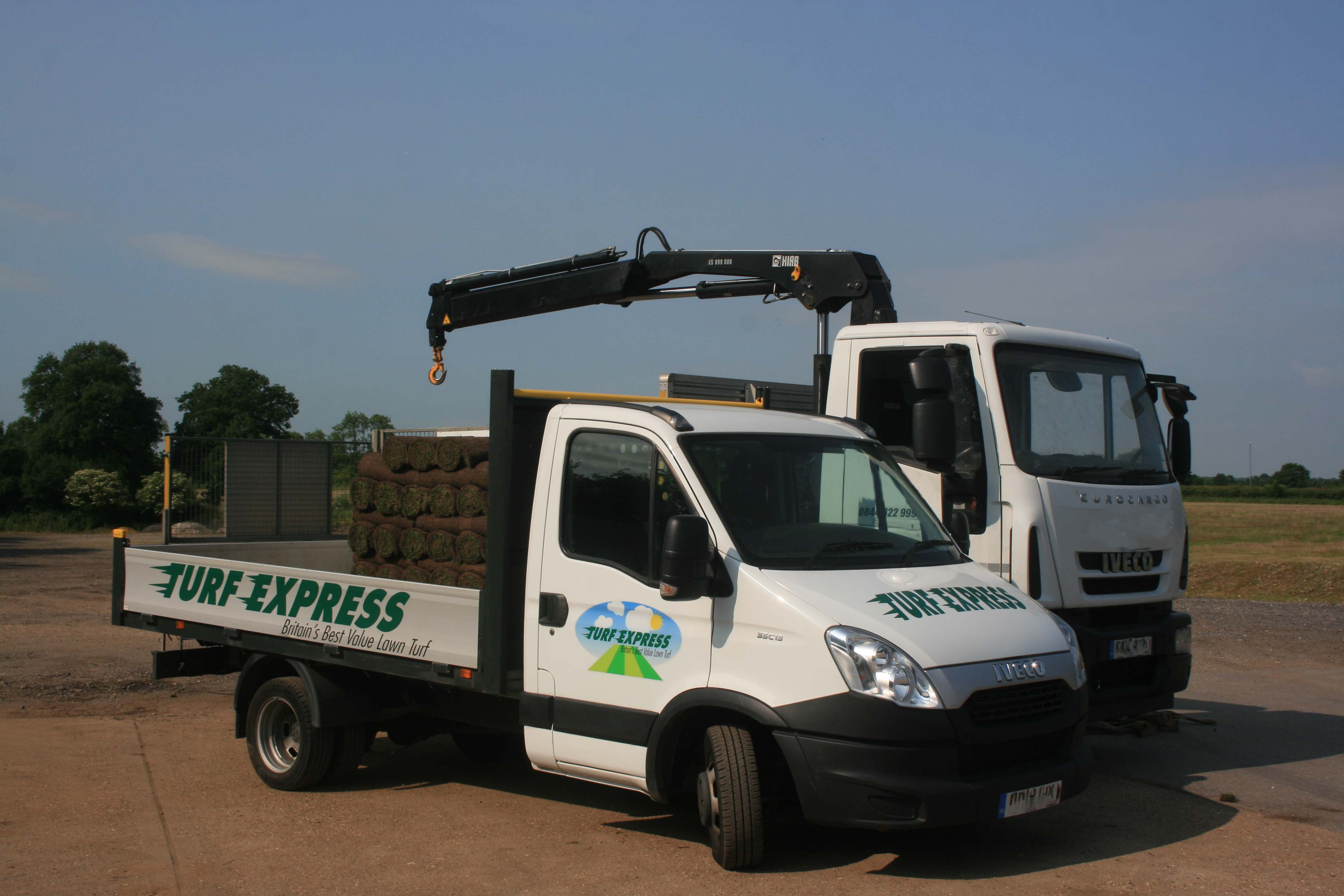 Turf Express delivery vehicle